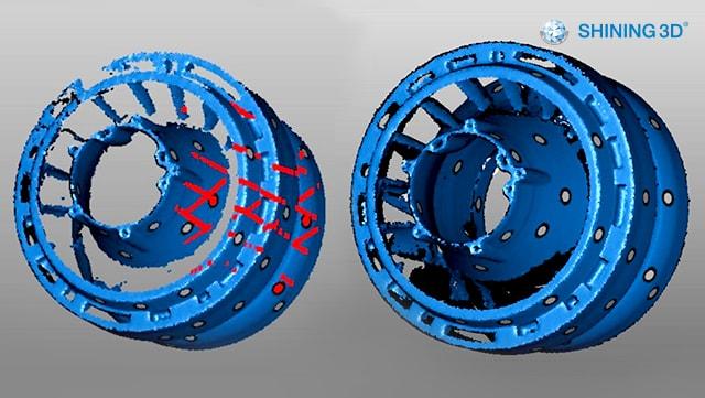 3Д сканування складних ділянок. Результат до застосування лайхаку
